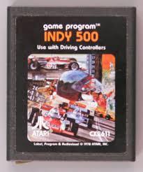 Video game:Atari Indy 500 video game cartridge - Atari, Inc ...