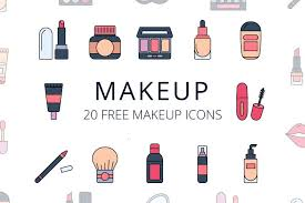 set of free makeup icon vector engine