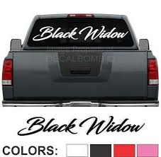 Black Widow Script Windshield Decal Sticker Diesel Turbo Truck Car Spider 45 X 7 Ebay