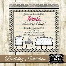 Invitaciones De Cumpleanos Vintage Invitaciones Retro Classy