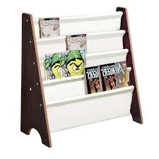 Wood Sling Canvas Bookcase Bookshelf Magazine Book Display Kids Bedroom Storage For Sale Online Ebay