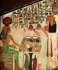 simple egyptian wall paintings