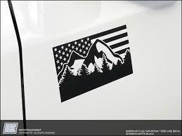American Flag Mountain Decal Toyota 4runner Tacoma Fj Sequoia Tundra Importequipment