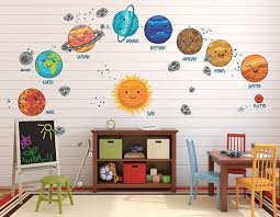Kids Solar System Decals Kids Solar System Bedroom Decal Solar System Wall Decal Nursery Wall Decals Kids Solar System Bedroom
