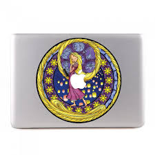rapunzel stained glass macbook skin decal