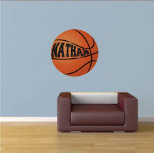 Girls Boys Room Custom Basketball Wallpapers Basketball Bedroom Stickers Large Basketball Decals Sports Wallpapers Primedecals Com