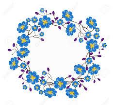 Las Flores Azules Corona Para El Cumpleanos Invitaciones Boda