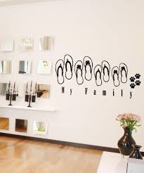 Vinyl Wall Decal Sticker Sandal Family 5033 Stickerbrand