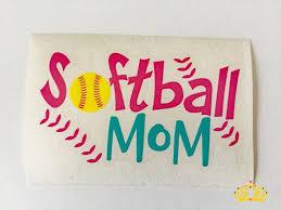 Softball Mom Decal Ready To Ship Softball Yeti Decal Softball Decal Softball Car Decal Rtic Cup Decal Cup Decal Rtic Cup Decal Softball Decals Cup Decal