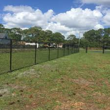 6 Ft Black Vinyl Chain Link Fence With Double Drive Walk Gate