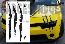 Car Headlight Scar Kit Decal Dino Scar Claw Stripe Slash Monster Stickers New 4 99 Picclick Uk