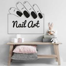 Nail Art Sign Vinyl Window Stickers Manicure Design Wall Decal Nails Salon Decoration Nail Artist Wall Murals Custom Logo Wall Stickers Aliexpress