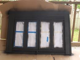 contemporary painting fireplace doors