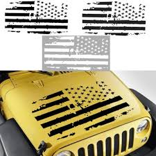 Car American Usa Flag Hood Blackout Vinyl Decal Stickers For Jeep Wrangler Jk Tj Yj Sale Banggood Com