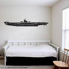 Kriegsmarine U Boat Type Vii Submarine Wall Art Vinyl Sticker World War 2 Decal Ebay