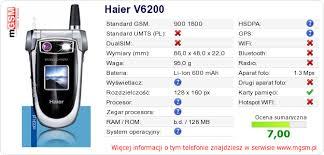 telefonu na Twojej stronie Haier V6200 ...