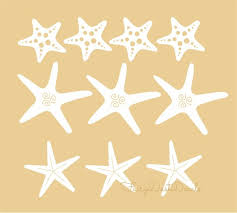 Starfish Decals Seashell Vinyl Stickers Beach Decor Etsy Beach Wall Decals Ocean Wall Decor Wall Decals