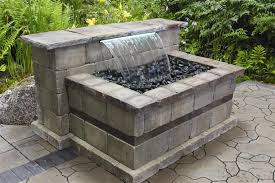 retaining wall waterfalls waterfalls