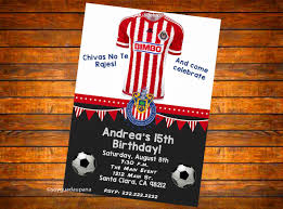 Chivas De Guadalajara Personalized Invitation Digital Download