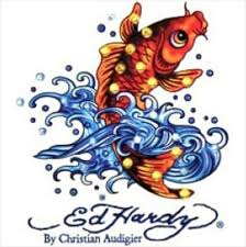 Ed Hardy Koi Fish Car Decal Sticker Jewel Laptop Auto Tattoo Art Crystals On Ebid United States Bid Only 1 Ed Hardy Tattoos Ed Hardy Designs Koi Fish Drawing
