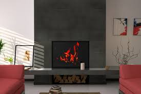 porcelain tile fireplace surround