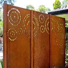 metal panels corten steel garden screen