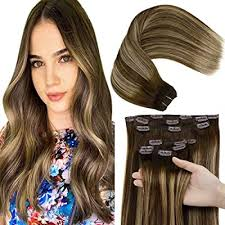 laavoo 14inch clip in hair extensions