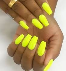 70 Stylish Bright Neon Nails Ideas (With images)   Yellow nails ...