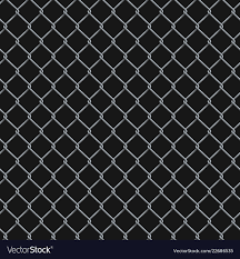 Seamless Realistic Chain Link Fence Background On Vector Image
