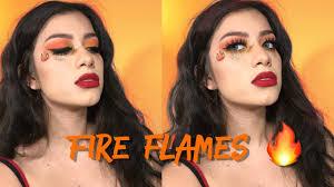 hot fire makeup tutorial fire emoji