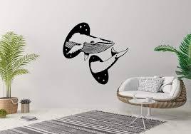 Amazon Com Wall Sticker Whale Sea Animal Portal Hole Tattoo Design Vinyl Mural Decal Art Decor Eh2849 Handmade