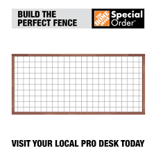 Unbranded 4 Ft H X 8 Ft W Pressure Treated Redwood Tone Loveland Pine Fence Panel 216932 The Home Depot