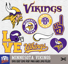 Minnesota Vikings Svg Logos Monogram Silhouette By Svgsports Minnesota Vikings Logo Viking Logo Minnesota Vikings Football