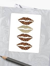 gold leopard print cheetah print lips
