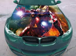 Vinyl Car Hood Full Color Wrap Graphics Decal Iron Man Tony Etsy