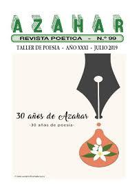 Revista Poetica Azahar Noventa Y Nueve By Rusvelt Nivia