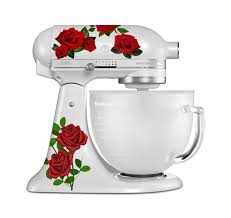 Red Rose Bud Printed Vinyl Decal Set For Stand Mixers Etsy