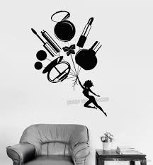 Woman Girl Bedroom Makeup Wall Sticker Cosmetics Beauty Salon Vinyl Wall Decals Personality Creative Wall Decal Art Mural All Wall Stickers Alphabet Wall Stickers From Onlinegame 8 96 Dhgate Com