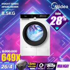 Mua Máy Giặt Cửa Trước 8.5kg Midea MFK85-1401 (Diệt Khuẩn, 14 Chế Độ Giặt)  - Hàng Phân Phối Chính Hãng Bảo Hành 2 Năm giá rẻ 8.990.000₫