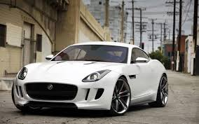 White beautiful car on road images free download