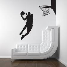 Free Shipping Large Size Basketball Wall Art Decor Basketball Player Dunk Vinyl Wall Decal Stickers S2058 Stickers Bedroom Stickers Hoodsticker Decal Aliexpress