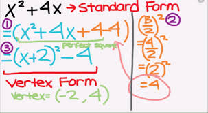 completing the square to vertex form