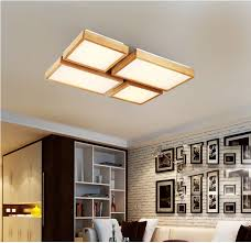 square wood ceiling lamp led lights