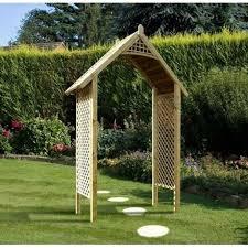 valencia wooden garden arch