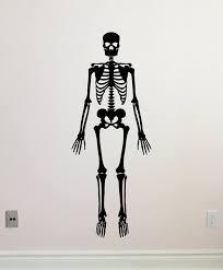 Amazon Com Skeleton Wall Decal Dead Human Skeleton Vinyl Sticker Anatomy Halloween Horror Wall Decor Cool Wall Art Living Room Wall Design Modern Bedroom Wall Decor Mural 309xxx Kitchen Dining