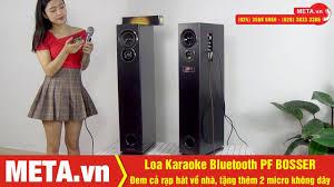 Test nhạc Loa Karaoke Bluetooth PF BOSSER công suất 180W, tặng 2 micro  không dây - YouTube
