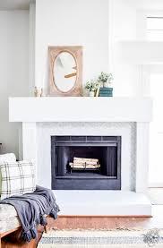no demo fireplace surround makeover