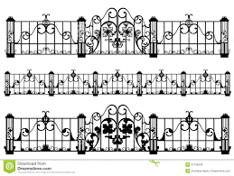 Fence And Gate Vector Stock Vector Illustration Of Craft 37739348