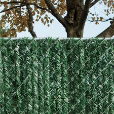Yardgard 4 Ft H X 5 Ft W Green Privacy Hedge Slat Vinyl Fence Panel 330348gr The Home Depot Vinyl Fence Panels Slatted Fence Panels Fence Slats