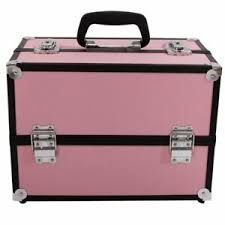 aluminum makeup train case jewelry box